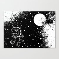 DINOSAUR IN SPACE! Canvas Print