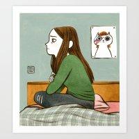 Teen Angst Art Print