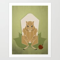 Bad Squirrel Art Print