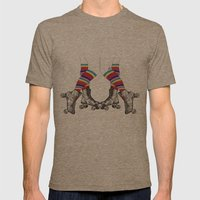 Let's Roll Mens Fitted Tee Tri-Coffee SMALL