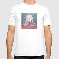 dark flower Mens Fitted Tee SMALL White
