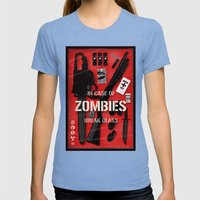 Zombie Emergency Kit Womens Fitted Tee Tri-Blue SMALL