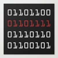Binary Love Canvas Print