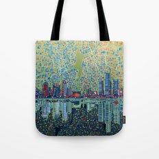detroit city skyline Tote Bag
