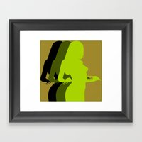 tease Framed Art Print