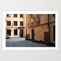 Sunrise in Gamla Stan Art Print