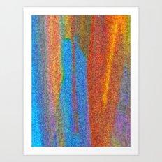 Orange Falls Art Print