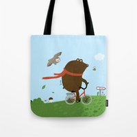 The Bear goes to the City Tote Bag