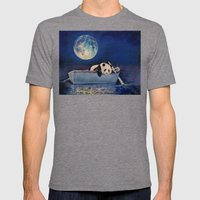 Blue Moon Mens Fitted Tee Tri-Grey SMALL