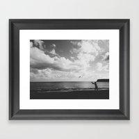 Frisbee Framed Art Print