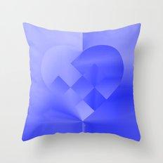 Danish Heart Blues Throw Pillow