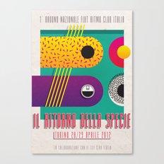 Manifesto Fiat Ritmo (Fiat Strada) Club Italia Canvas Print