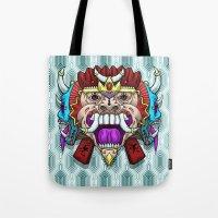 Greed Barong Mask Tote Bag