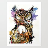 Owl Sounds Art Print