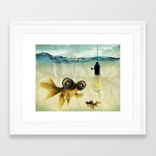 Fish Eyed Lens 03 Framed Art Print