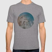 Scattered Mens Fitted Tee Athletic Grey SMALL