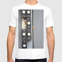 Doorbells Mens Fitted Tee White SMALL