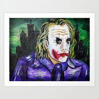 Gotham is Mine - Heath Ledger as The Joker Art Print