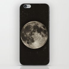 The Moon  [Sans Type] iPhone & iPod Skin