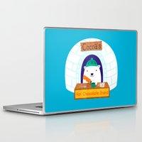 polar bear Laptop & iPad Skins featuring Polar Bear by Claire Lordon