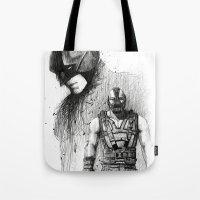 Bat In Black (The Dark Knight Rises) Tote Bag