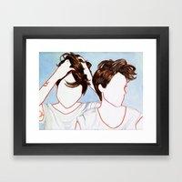 Tegan and Sara Framed Art Print