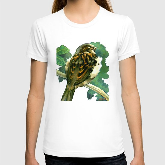 Sparrow in Puriri Tree T-shirt