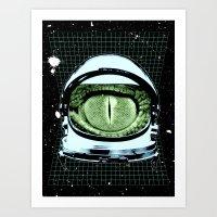 Astro Reptoid Art Print
