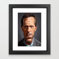 Celebrity Sunday ~ Hugh … Framed Art Print