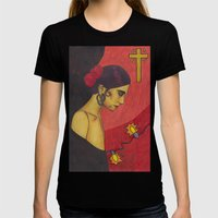 Surfer Rosa (Luxemburg) Womens Fitted Tee Black SMALL