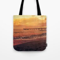 Sundown At The Sea Tote Bag