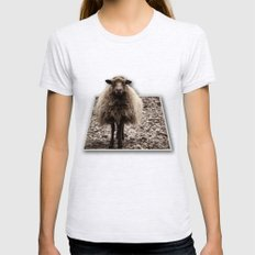 Sheep Stare Womens Fitted Tee Ash Grey SMALL