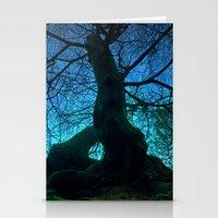 Tree under a spangled sky (light) Stationery Cards
