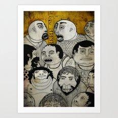 Los cara de galleta Art Print