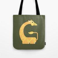 Letter G // Animal Alpha… Tote Bag