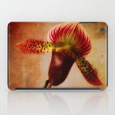 Ruby Lady Slipper Orchid iPad Case