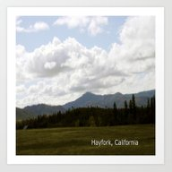 Cloudy Day In The Countr… Art Print