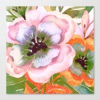 vintage big flower Canvas Print