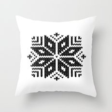 knit flake Throw Pillow