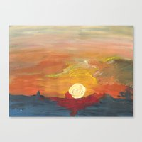 Sunset Impressionist 2 Canvas Print