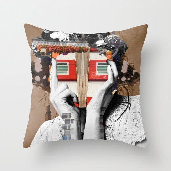 Crazy Woman - Lisa Lara Bella Throw Pillow