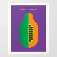 Fruit: Papaya Art Print