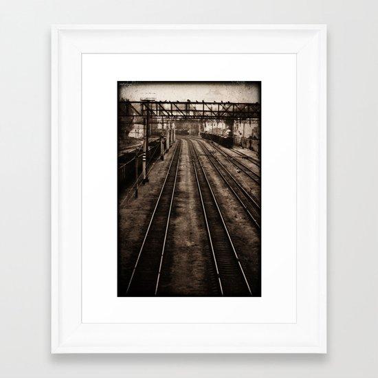 Choosing roads  Framed Art Print