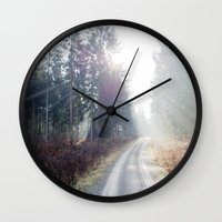 shining wood. Wall Clock