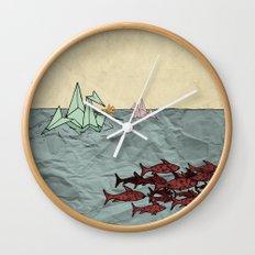 Paper Cranes Wall Clock