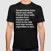 Screenshots and Quotes Mens Fitted Tee Tri-Black SMALL