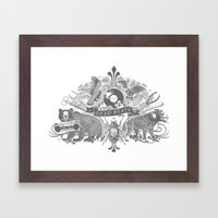 DEAD BEATS Framed Art Print