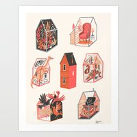 Little Boxes Art Print