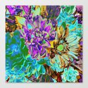 Neon Flower Magic Canvas Print