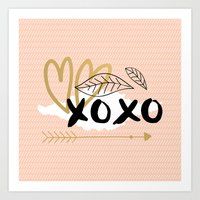 Xoxo Pink Art Print